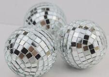Gisela Graham Natale SILVER MIRROR BALL Pallina decorazione x 3