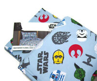 Star Wars Heavyweight Yoda Trooper Darth Vader Head Flannel Twin Sheet Set New