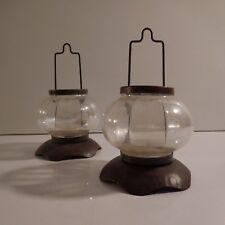 2 lanternes loupiotes bougies fait main art déco design XXe PN France N2994
