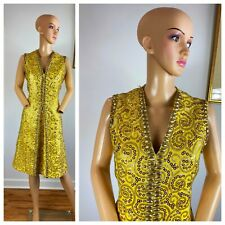 New listing Vtg 60s Smart Miss Mod Metallic Sequin Atomic Glitter Cocktail Party Dress L Xl
