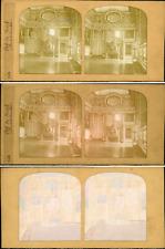 Stéréo, Versailles, salon de l'oeil de boeuf vintage stéréo card tissue, ca
