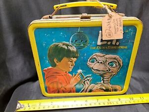 E.T. METAL LUNCHBOX WITH THERMOS - NO TOP - GREAT CONDITION