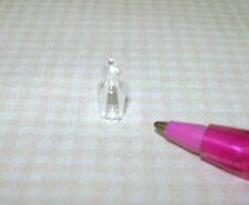 Miniature Tiny Clear Glass Perfume Bottle #2: DOLLHOUSE Miniatures 1:12 Scale