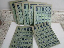 Vintage Heavy Cardstock Bingo Cards # 1- 20 Altered Art