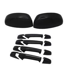 For 2007-2013 Chevy Silverado GMC Sierra Mirror Cover+4 Door Handle Covers black