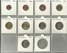 SAN MARINO 2011 - COMPLETE SERIE - 1 cent t/m 2 euro + € 2,= Vasari + € 5,=.