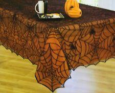 Halloween Newbridge Spider Cob Web Lace Liner Set 52x70 Oblong Tablecloth NIP