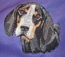 Embroidered Ladies Short-Sleeved T-Shirt - Bluetick Coonhound I1171