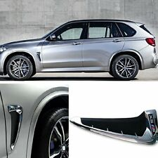 Side Body Air Vent Wing Marker Fender Trim Cover Mark For BMW X5 F15 2014-2017