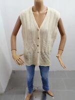 Gilet BENETTON Donna Taglia Size L Sweater Woman Pull Femme P7193