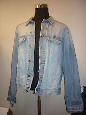 DIESEL Industry Denim Jean Jacket Blue Distressed SZ XLTrucker Style RR55 EUC