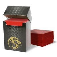 Pack of 80 Boxed BCW RED Matte Deck Guards MTG CCG Gaming Card Sleeves Pokemon