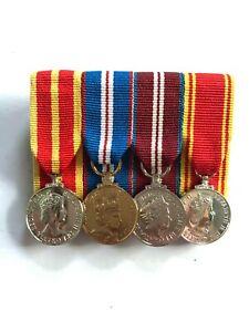 Queen's Fire Service Medal (QFSM) & Long Service, Miniature Group.