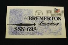 NAVAL COVER 1978 MACHINE CANCEL LAUNCHING USS BREMERTON (SSN-698) (5699)