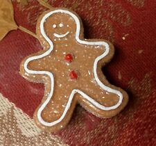 Realistic Artificial Fake Play Food Cookie Mini Gingerbread Man 3D Food Magnet