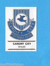 FOOTBALL CLUBS-PANINI 1975-Figurina n.302- CARDIFF CITY -GALLES-SCUDETTO  -Rec