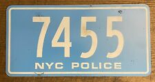 New York City Police Department Prop License Plate Movie NYC POLICE 7455 single