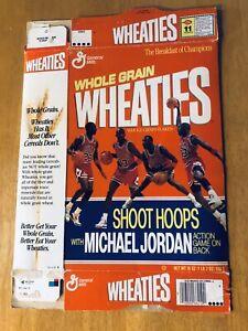 Michael Jordan Wheaties Box Shoot Hoops With Micheal Jordan 18oz Flattened
