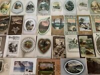 Big Lot of 60 Vintage Postcards with Cottage & Various Scenes Scenic---s726