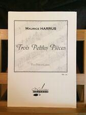 Maurice Harrus Trois petites pièces pour flûte et guitare partition Notissimo