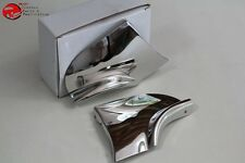 1957 Chevy Rear Fender Skirt Trim Stainless Steel Scuff Pads Pair New