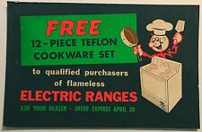 Rare Vtg 40s 50s Reddy Killowatt Cardboard Advertisement Display Retro Electric
