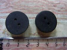 2 anciens boutons bois noirci N08 diam 2cm VINTAGE 2 Old black wood button