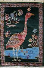 Rugstc 2x3 Pak Persian Green Area Rug, Hand-Knotted,Pictorial Hunting with Wool