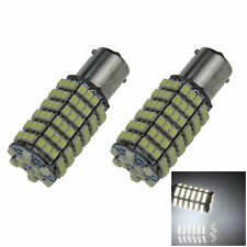 2x White RV 1156 Parking Blub Rear Lamp 120 Emitters 1210 SMD LED T25 7008 D023