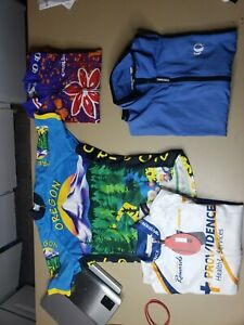 Lot Of 4 Women's Pearl Izumi Hincapie champ Sys Cycling Jersey Shirts Sz Med