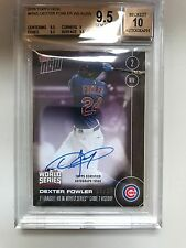 Dexter Fowler Auto World Series Card #/25 Cubs - SOLD OUT! bus 9.5/10 PERFECT