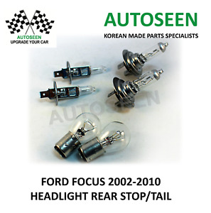 For FORD FOCUS 2002-2010 2xHEADLIGHT H1 / 2xH7 / 2xREAR STOP,TAIL S25 Double