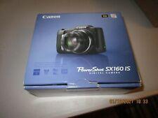 Canon PowerShot SX160 IS 16.0 MP Camera - BLACK  UPC 013803157215 MINT (674)