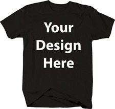 PERSONALIZED CUSTOM PRINT YOUR OWN FULL COLOR IMAGE OR TEXT ON T-SHIRT TEE MEN'S