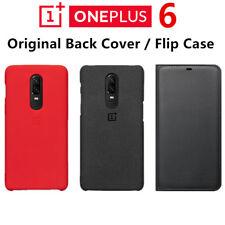 OEM OnePlus 6 Six 1+6 Sandstone Ebony Wood Karbon Fiber Silicone Case Flip Cover