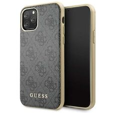 Guess Charms 4G iPhone 11 Pro Max SCHUTZHÜLLE Back Case Cover Grau