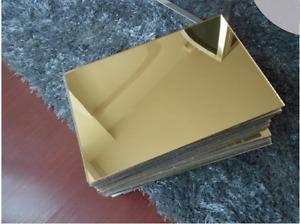 Vetro sintetico plexiglass oro specchio 30x20 cm 300x200 mm per taglio laser k40