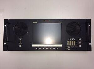 """Marshall V-R81PA 8"""" 4U Rackmount Video LCD Monitor NTSC PAL XLR Audio 7.9"""" USED"""