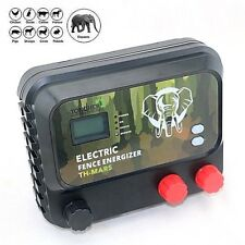 Electric Fence Energizer Charger 8J, LCD, 30KM Farm & Wild Animals, Elephant