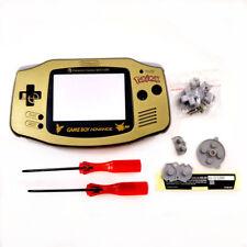 GBA Nintendo Game Boy Advance Replacement Housing Shell Screen Gold Pokemon