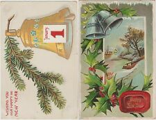 *1910's U.S 4 old Postcards/ Happy New Year Postcards / Deputy, IN & Madison, IN