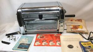 ROTO BROIL MODEL 400 ROTISSERIE WITH ACCESSORIES AND INSTRUCTIONS WORKING 1950'S