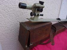 ancien théodolite   lunette de géomètre niveau  CHASSELON PARIS
