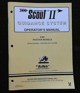 """BUFFALO Pivoter 47001005 47001006 """" Scout II Guidance Sistema """" Operatori"""