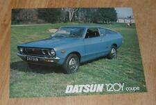 Datsun Sunny 120Y Coupe Brochure 1976