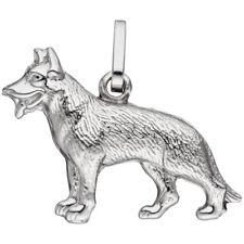 Anhänger Schäferhund Hund 925 Sterling Silber Silberanhänger