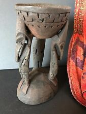 Old Papua New Guinea Carved Wooden Sepik River Paint Pot (b) …one of a unique...