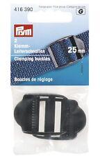 Prym 2 Klemm-Leiterschnallen Stegbreite 25 mm Schnalle Steckschnalle 416390