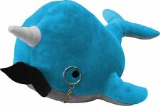 Kimler Cute Fancy Narwhal Plush with Mustache and Monocle. Over a Foot Long!