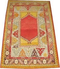 Antique Border Turkish Mudjur Oushak Ushak Rug Size 3'x4'7' 39;